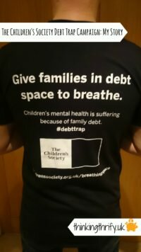 The Childrens society Debt Campaign needs our help to ask the goverment to create a breathing space for families in debt to help protect the mental health of children.