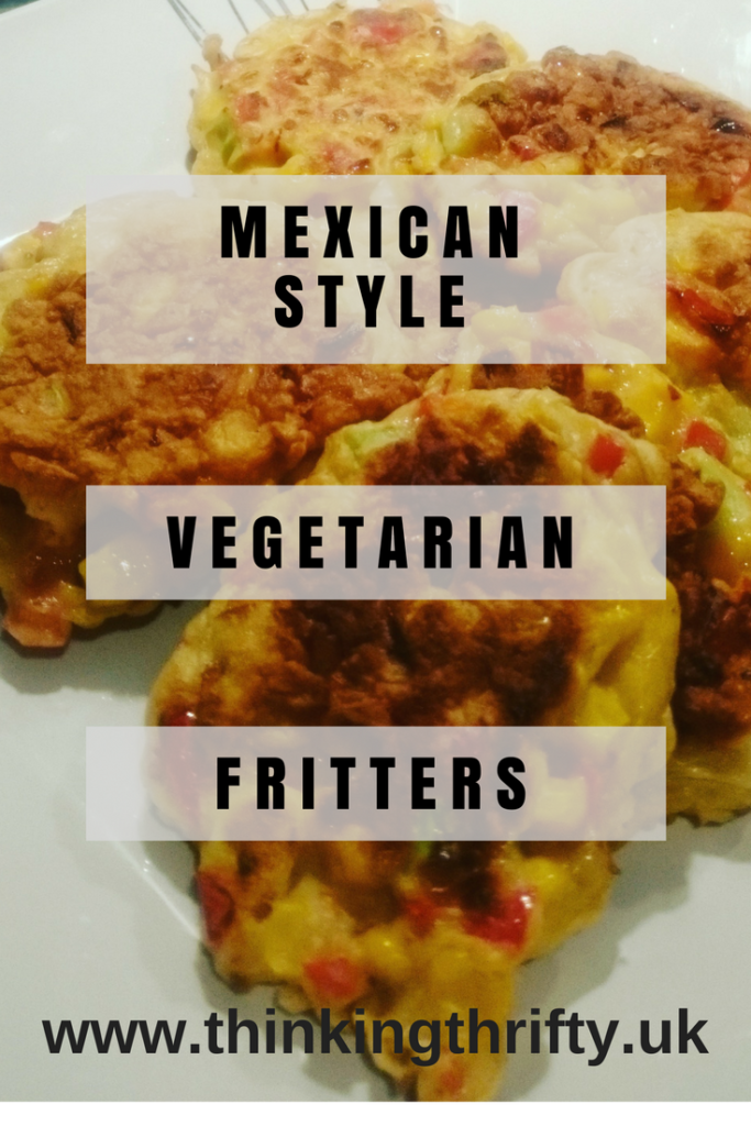 I came across vegetarian fritters in a Facebook foodie group I'm in and after watching a quick video realised you could literally put anything in them! I'm a lover of spicy food, and this recipe comfortably made 10 Mexican style vegetarian fritters, and I won't lie, they were delicious! I served it with some Mexican spicy rice and sour cream